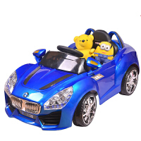 【当当自营】儿童电动车 四轮电瓶车 宝宝带遥控电动汽车 可坐玩具汽车 双电双驱 8811蓝色