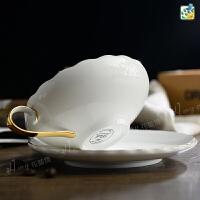 骨瓷咖啡杯�W式��s陶瓷杯子英式下午茶茶具水杯��意�R克杯套�b