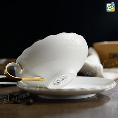 骨瓷咖啡杯欧式简约陶瓷杯子英式下午茶茶具水杯创意马克杯套装