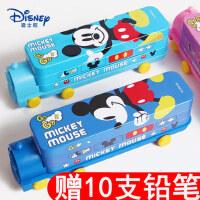 迪士尼多功能学霸文具盒小学生用1-3年级铅笔盒儿童男女款铅笔袋幼儿园大容量铅笔盒韩版网红可爱男孩女孩用