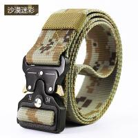 蛇战术腰带男多功能军迷帆布户外皮带特种兵作训尼龙迷彩裤带 均码