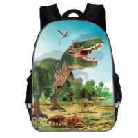 新款侏罗纪恐龙书包幼儿园中大班一二三年级恐龙男孩5-6-7岁背包 黑色 图一(小)