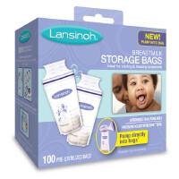 [当当自营]Lansinoh兰思诺 进口母乳储奶保鲜袋 一次性奶水储存袋180ml 100片 盒装