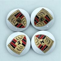 保时捷轮毂盖 卡宴轮毂盖 911 Panamera macan改装轮毂装饰车 保时捷轮毂盖银色 一套四个装