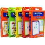 【算数套装5盒】School Zone Flash Cards Addition Multiplication Sub