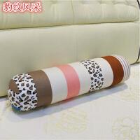 可拆洗 糖果枕头圆柱形抱枕亚麻长条抱枕 床上靠垫沙发腰枕 含芯