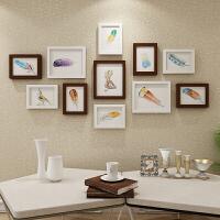 简约现代客厅照片墙装饰相框墙欧式相框创意挂墙组合相片墙11画框