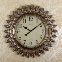 挂钟客厅钟表大号现代装饰时尚静音太阳石英钟创意欧式挂钟表