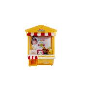 抖音同款闹钟儿童糖果扭蛋机生日礼物迷你抓娃娃机夹公仔机游戏机 七彩灯屋子款黄色(自动版) 大号夹娃娃机