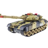大号遥控坦克模型对战坦克车 充电遥控车越野电动儿童玩具 男孩 32cm 黄色