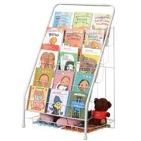 儿童书架铁艺杂志架绘本书报置物架落地幼儿园报刊架展示宝宝书架