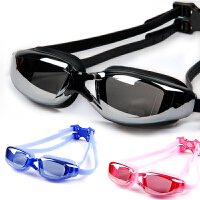 平光近视泳镜 防雾防水游泳眼镜 电镀大框男女游泳镜