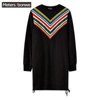 【1件4折叠券约:86.4,12日0点】美特斯邦威衬衫女冬季新款时尚潮流女MTEE*MTRT系列连衣裙