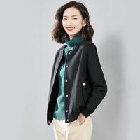 【169元】呢子外套女短款秋冬新款棒球领妮子休闲百搭毛呢小外套