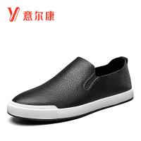 意尔康男鞋2018秋新款豆豆鞋轻便舒适驾车鞋乐福鞋