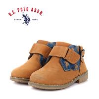 U.S. POLO ASSN.美国马球协会冬季新品 男童高帮运动鞋户外休闲靴子