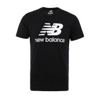 New Balance/NB男装 2017新款运动休闲圆领针织短袖T恤 AMT73587BK/AMT73587WT/AMT73587PGM