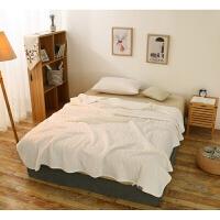 被毯子空调毯子双人针织裸睡天竺薄被宝宝靠垫可爱毯子纯色单件空调加厚休闲午睡四季