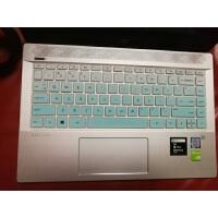 惠普HP TPN-Q207 14寸笔记本电脑凹凸键盘保护贴膜彩色按键防尘套