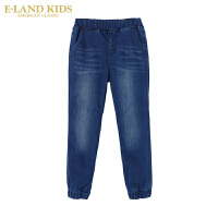 【1件3折 折后价:149.4元】Eland kids衣恋童装mini冬季男童加绒卡通牛仔长裤EKTJ74V01S