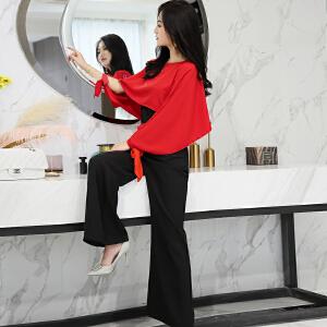 风轩衣度 套装/套裙个性气质韩版修身显瘦都市优雅甜美舒适长袖2018年夏季 2133-8917