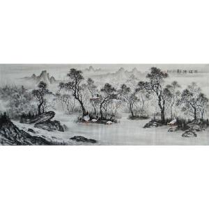 当代实力派画家  肖建  丽江清影六尺