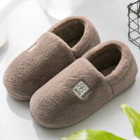 男士棉拖鞋冬季家居厚底居家用室内保暖毛绒全包跟加绒棉鞋女冬天