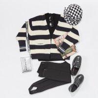 【1件2折到手价:51】美特斯邦威开衫2019年冬季休闲基本纯色女毛织条纹开衫