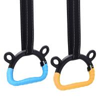 家用体能健身吊环引体向上儿童长高腰椎牵引器材拉环手柄 吊环+1米吊绳 【手胶】