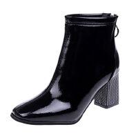 WARORWAR 法国新品YN9-379A秋冬欧美粗跟高跟女鞋潮流时尚潮鞋百搭潮牌短靴女