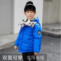 男童棉衣外套2018冬新款中大童短款小童棉袄儿童红色加厚羽绒