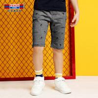 【秒杀价:27】铅笔俱乐部童装2019夏季男童短裤五分裤中大童五分裤儿童短裤裤子