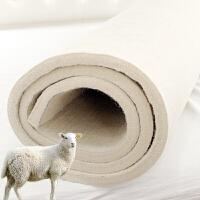 加厚炕毡纯羊毛毡床垫榻榻米垫防潮床毡子羊毛床褥单双人炕垫定制