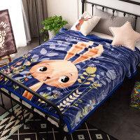加厚双层冬季用儿童毛毯毯子女学生单人宿舍小被子午睡盖毯 150cmX200cm(加厚双层云毯 约4斤)