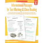 【一年级精读】积极阅读策略 Informational Passages Text Marking Grade 1 高