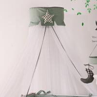 婴儿床蚊帐欧式圆顶落地带支架独立宝宝用品新生儿宝宝床婴儿蚊帐