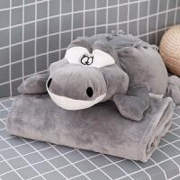 卡通抱枕被子两用午睡枕头汽车办公室珊瑚绒腰靠枕靠垫空调被毯子 抱枕均码(毯子1米*1.7米)