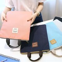 文件袋收纳学生女公文袋大容量 出差旅游用品便携手提文件包资料袋