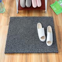 加厚丝圈地垫门垫进门入户可裁剪pvc脚垫地毯门口门厅家用防滑垫 黑灰 约20