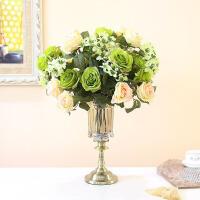 欧式玻璃花瓶摆件餐桌客厅干花假花透明摆件大号家居饰品装饰摆设
