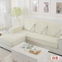 加密毛毛虫雪尼尔沙发垫防滑定做欧式皮沙发垫毛绒布艺飘窗垫冬季