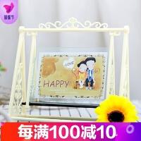 创意DIY相架5 6寸7寸秋千结婚照片摆件相框个性相框摆台 宝宝像框