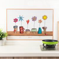 厨房防油烟贴耐高温贴纸瓷砖玻璃贴防水墙贴油烟机防油贴纸 约89.5*60cm