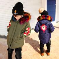 男童羽绒服加厚中长款秋冬季韩版大毛领中大童儿童冬装外套潮