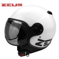 夏季摩托车头盔电动车安全帽男女士四季时尚复古半盔210c