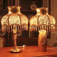 创意床头柜摆件欧式高档家居工艺装饰品卧室乔迁礼品实用结婚礼物 【一对】欧式奢华宫廷台灯