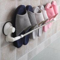 浴室免打孔墙上壁挂式拖鞋架不锈钢卫生间置物架鞋子沥水收纳架