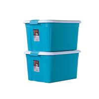 禧天龙Citylong 塑料收纳箱2个装 6131 蒂梵蓝 大号储物整理箱环保加厚材质