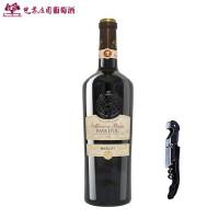 巴黎庄园美乐干红葡萄酒法国原瓶进口红酒梅洛原装单支奥克产区