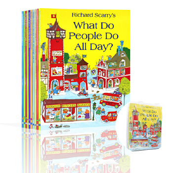 Richard Scarry's Collection 斯凯瑞英文原版儿童绘本(10册套装合辑) 轱辘轱辘转 忙忙碌碌镇 What Do People Do All Day Cars and Trucks and Things That Go Busiest People Ever Best Counting Book